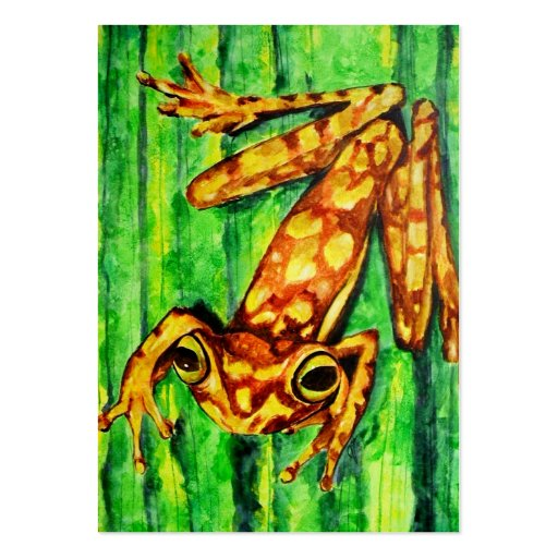 Goldie The Tree Frog ACEO Art Trading Cards Business Card