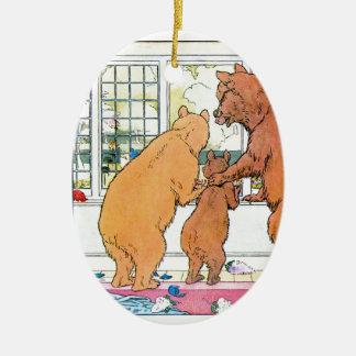 Goldilocks and The Three Bears Christmas Ornament
