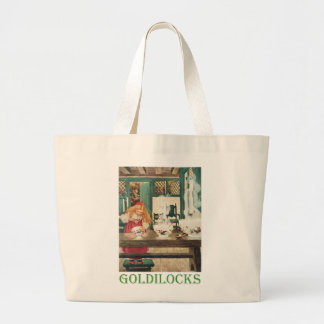 Goldilocks and the Three Bears Large Tote Bag