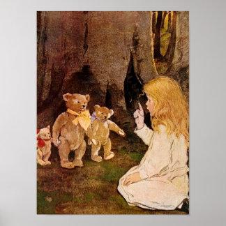 """Goldilocks and the Three Bears"" Poster"
