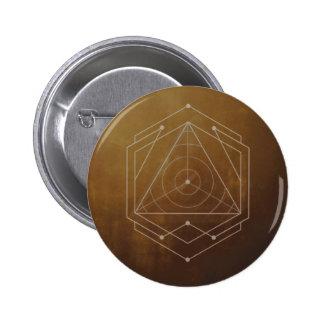 Goldish 6 Cm Round Badge