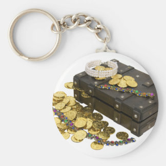GoldJewelryTreasure092009 Basic Round Button Key Ring