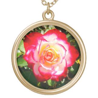 Goldrose Round Pendant Necklace