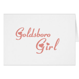 Goldsboro Girl tee shirts Greeting Card