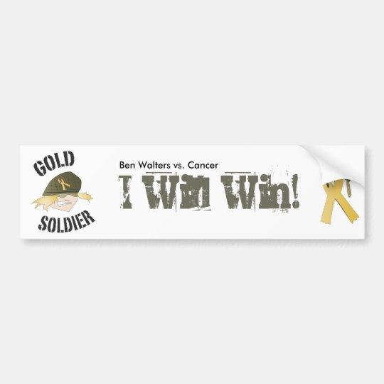 goldsoldier_icon_1B.ai Bumper Sticker