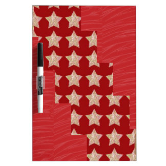 GOLDSTAR Constellation on Silky Red Fabric Pattern Dry Erase White Board