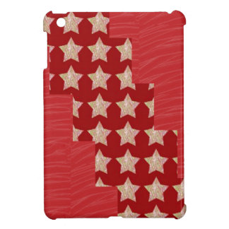 GOLDSTAR Constellation on Silky Red Fabric Pattern iPad Mini Covers