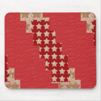 GOLDSTAR Constellation on Silky Red Fabric Pattern Mousepad