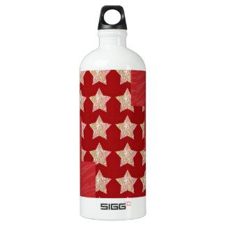 GOLDSTAR Constellation on Silky Red Fabric Pattern SIGG Traveler 1.0L Water Bottle