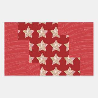 GOLDSTAR Constellation on Silky Red Fabric Pattern Sticker