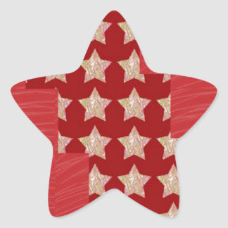 GOLDSTAR Constellation on Silky Red Fabric Pattern Stickers