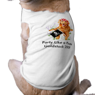 Goldstock Pirate Shirt Sleeveless Dog Shirt