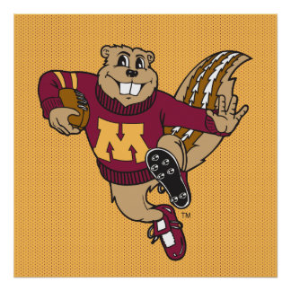 Goldy Football Poster