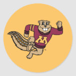 Goldy Gopher Round Stickers