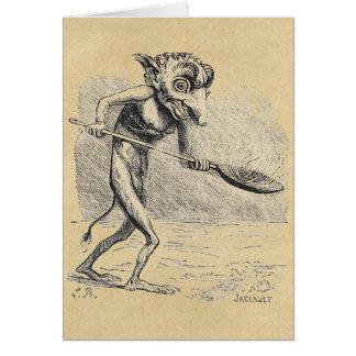 Golem Stirs the Cauldron Greeting Card