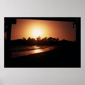 goleta beach sunset, santa barbara ca poster