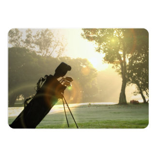Golf 13 Cm X 18 Cm Invitation Card