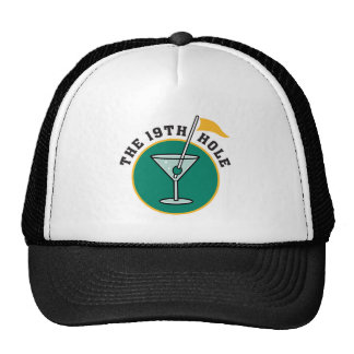 golf 19th hole drink time humor trucker hats