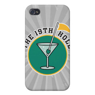 golf 19th hole drink time humor iPhone 4/4S cases