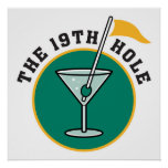 golf 19th hole drink time humour posters