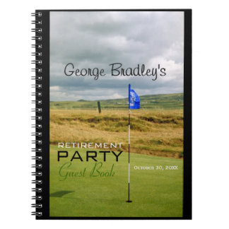 Golf 1 Personalized Retirement Party Guest Book