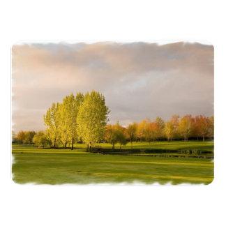 golf-25 13 cm x 18 cm invitation card