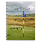 Golf 2 Personalised Retirement Party Guest Book