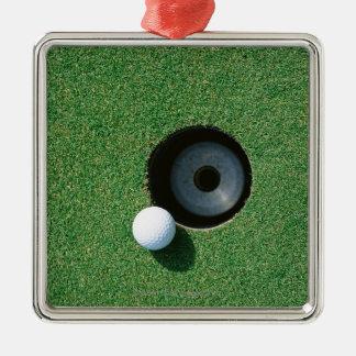Golf 2 Silver-Colored square decoration