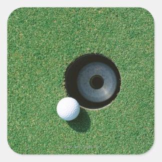 Golf 2 square stickers