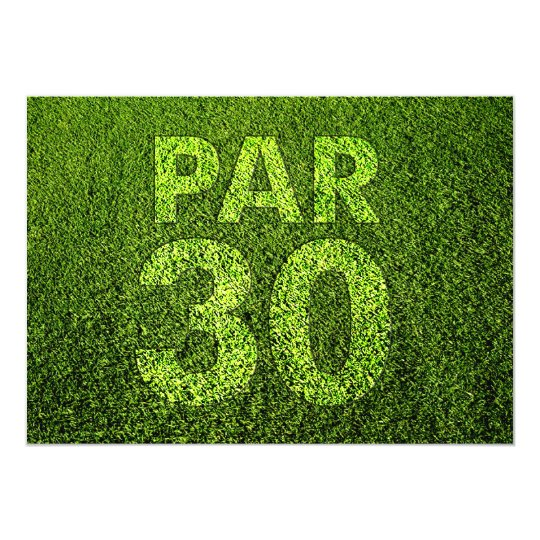 Golf 30th Birthday Party Card
