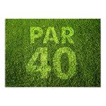 Golf 40th Birthday Party Personalised Invitation