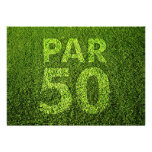 Golf 50th Birthday Party Personalised Announcement
