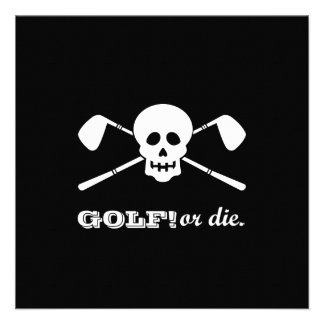 Golf 50th Birthday - This Pirate's Still Swinging! Personalized Invite