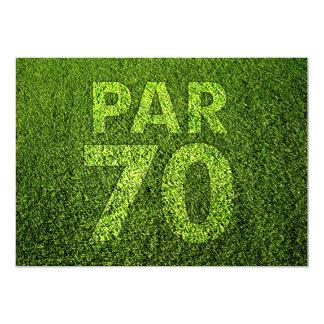 Golf 70th Birthday Party 13 Cm X 18 Cm Invitation Card