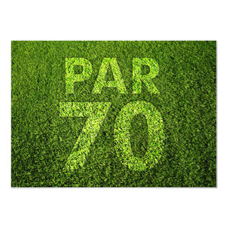 Golf 70th Birthday Party Card