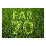 Golf 70th Birthday Party Custom Invite