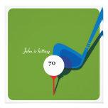 Golf 70th Birthday - Still Swinging! Personalised Announcements