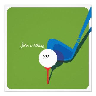 Golf 70th Birthday - Still Swinging Invite