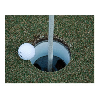 golf ... a game of inches postcard