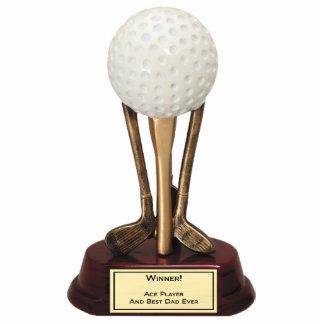 Golf Ace Player Ornament Photo Sculpture Decoration