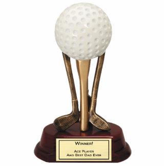 Golf Ace Player Sculpture Standing Photo Sculpture