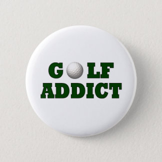 Golf Addict 6 Cm Round Badge