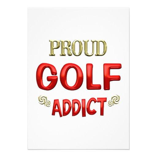 Golf Addict Custom Invites