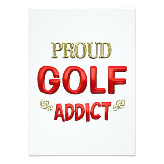 Golf Addict Custom Invites