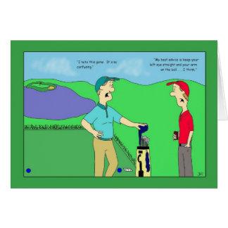 Golf Advice Birthday Card