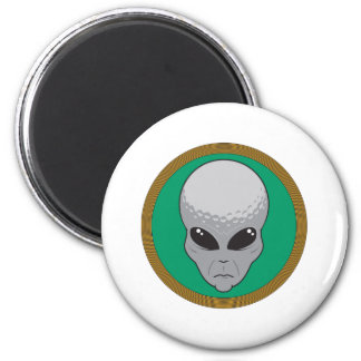 golf alien head fridge magnets