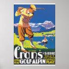 Golf Alpin Vintage Travel Poster
