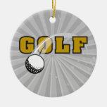 golf and goflball text logo design christmas tree ornament