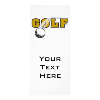 golf and goflball text logo design rack card
