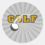 golf and goflball text logo design sticker